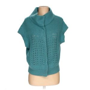 Free People teal sweater vest size Small